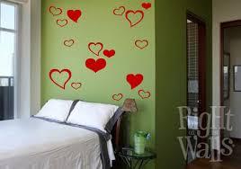 Heart Shapes Wall Decals Vinyl Art Stickers