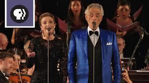 Andrea Bocelli & Carly Paoli Sing