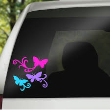 Butterflies Window Decal Set Of 3 Butterfly Decals Car Etsy