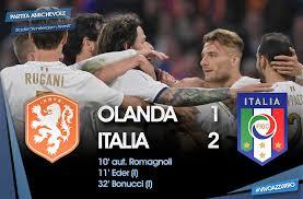 Calcio, Italia Olanda finisce 2 a 1. E in Sud America Bolivia batte  Argentina - Italia chiama Italia