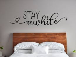 Stay Awhile Wall Decal Guest Room Wall Decal Stay Awhile Etsy In 2020 Room Wall Decor Wall Decals Room