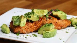 Grilled Salmon with Avocado Salsa - YouTube