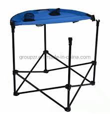 round portable folding camping table