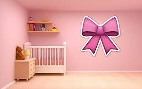 Emoji Pink Bow Ribbon Vinyl Wall Car Decal Sticker 5 Sizes Girl S Bedroom Ebay