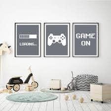 Gaming Minimalist Art Canvas Prints Poster Painting Boys Room Decorative Ebay