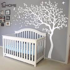 Large White Tree Birds Vintage Wall Decals Removable Nursery Mural Wall Stickers For Kids Living Room Decoration Home Decor Y200103 Removable Wall Decals For Bedroom Removable Wall Decals For Kids From Shanye10
