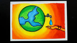 Image result for save water drawing art