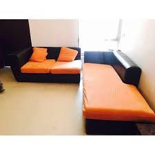 black orange corner sofa set rs 17500
