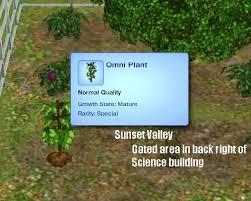 sims 3 skills gardening omni plant