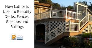 How Lattice Is Used To Beautify Decks Fences Gazebos