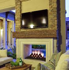 outdoor masonry brick fireplaces