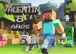 Invitacion Tarjeta Digital Minecraft Cumple 99 00 En