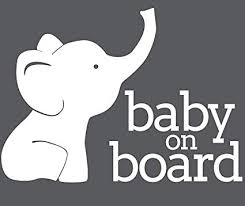 Sports Outdoors Baby On Board Car Sticker Waterproof Pink Elephant Window Decal Svcst Org