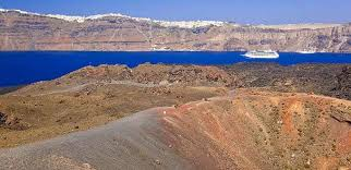 santorini greece volcano hiking