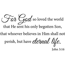 Amazon Com For God So Loved The World Wall Decal Quote Religious Bible Verse John 3 16 Scripture Christian Wall Art Sticker Home Kitchen