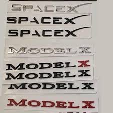 Letters Emblem Badge For Tesla Model 3 Model S Model X Spacex Car Styling Trunk Logo Boot Sticker Chrome Matte Glossy Black Red Aliexpress