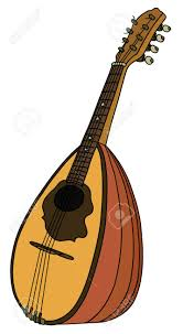 Hand Drawing Of A Vintage Portugal Mandolin Клипарты, векторы, и ...