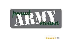 Amazon Com Proud Army Mom Magnet Decal Perfect For Car Or Truck 3x8 Automotive
