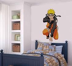 Amazon Com Edvoynlm Naruto Decal Stickers Naruto Uzumaki Wall Decal Sticker For Boys Room Naruto Decor Home Kitchen