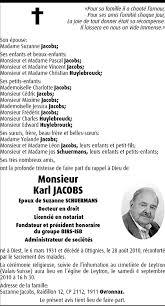 Hommages - Pour que son souvenir demeure: Karl JACOBS