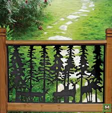 Add A Unique Design To Your Deck With The Pure Glory Deer Cast Iron Railing Panel This Heavy Duty Panel Can Be A Iron Fence Panels Railings Outdoor Iron Fence