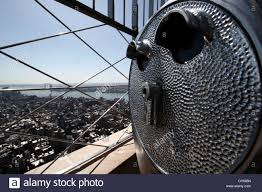 Binoculars And View From The Top Of The Empire State Building New Stock Photo Alamy