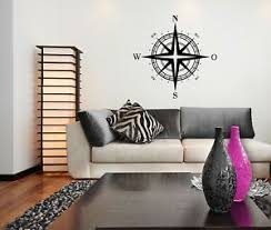 Compass As Wall Tattoo Living Room Home Vinyl Wall Decal Vinyl Stickers Ebay