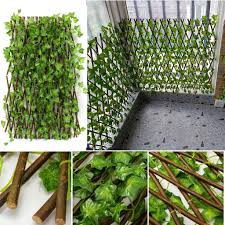 D Expandable Artificial Faux Ivy Leaf Hedge Panels On Roll Garden Screen Fence Shopee Malaysia