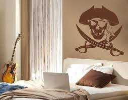 Pirate Kids Wall Decals Boys Sticker Mural Vinyl Art Home Decor Contemporary Wall Decals By Style And Apply
