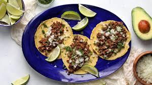 street tacos with homemade tortillas