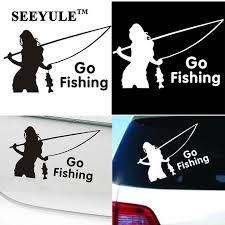 1pc Seeyule Beauty Go Fishing Car Stickers Styling Decal Sports Truck Bargain Bait Box