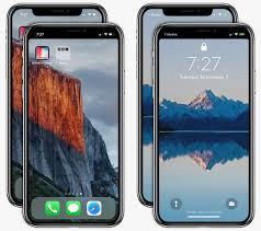 notch on the lock and home screen