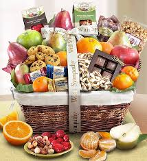 sympathy fruit sweets gift basket