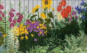 Songbirdsweresinging Garden Mural Garden Fence Art Fence Art