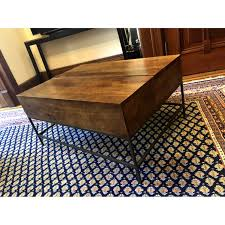 west elm industrial coffee table