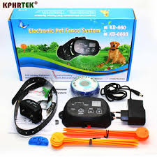 Kd660 Rechargeable Pet Electronic Fence Fencing System 1 2 Dog Shock Collars Training Collars Aliexpress