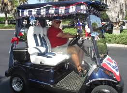 4th of july with run golf cart