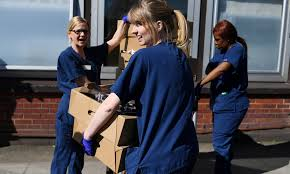 NHS workers from the doorsteps ...