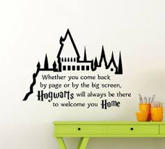 Harry Potter Wall Decal Hogwarts Quote Vinyl Sticker Kids Art Decor Mural 79ct Ebay