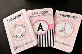 The Original Parisian Themed Passport Invitations New Designs