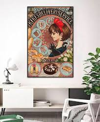 Kiki S Delivery Servise Print Poster Wall Art Home Decor Etsy