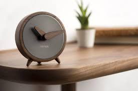 table clock atomo sobremesa graphite