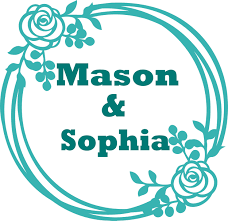 Couple Names Monogram Flowers Customized Wall Decal Custom Vinyl Wall Art Personalized Name Baby Girls Boys Kids Bedroom Wall Decal Room Decor Wall Stickers Decoration Size 20x20 Inch