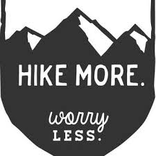 Hike More Worry Less Mountain Hiking From Markedco On Etsy