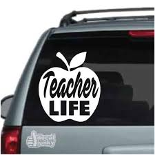 Teacher Life Apple Car Decals Window Stickers Decal Junky