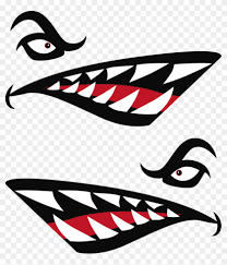 801 X 902 3 Kayak Shark Mouth Decal Free Transparent Png Clipart Images Download