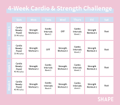 4 week workout plan for women shape