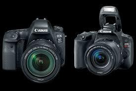 the canon 6d mark ii canon sl2