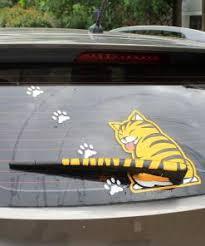 Cute Rear Window Wiper Cat Stickers The Great Cat Store