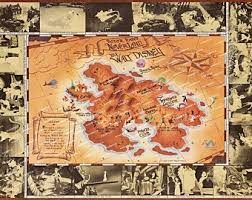 Neverland Map Poster Etsy